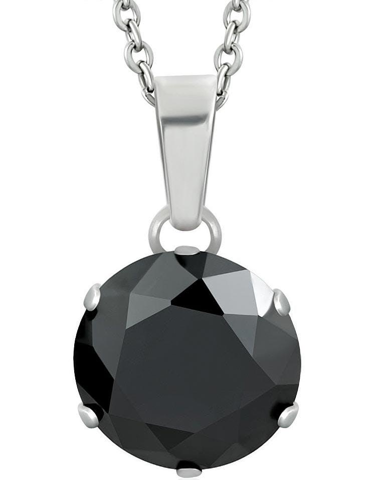 svart sten smycke