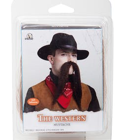 10e94cc5241 The Western Mustache - Svart Lösmustasch