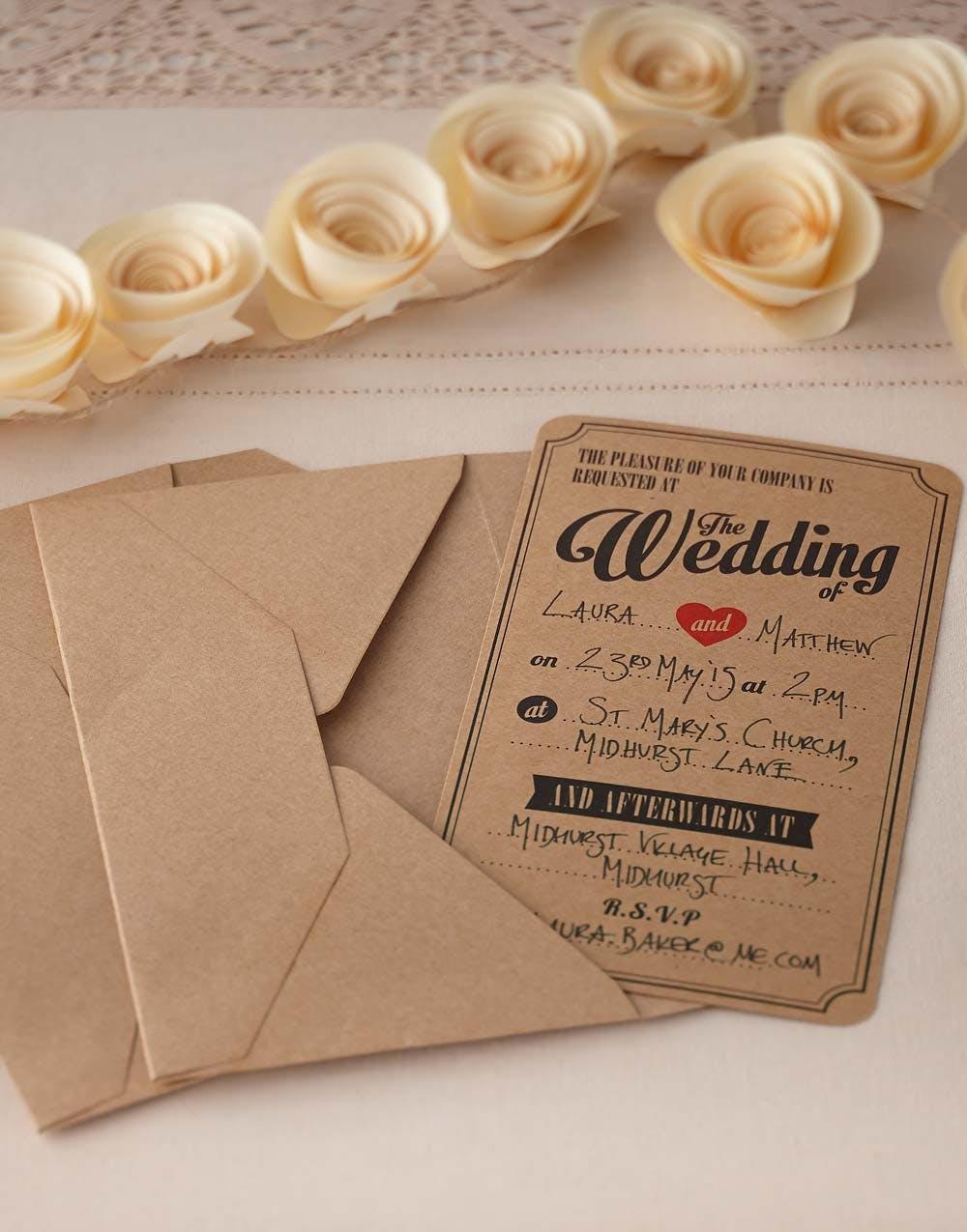 10 bryllupsinvitasjoner for vielse og fest vintage journey