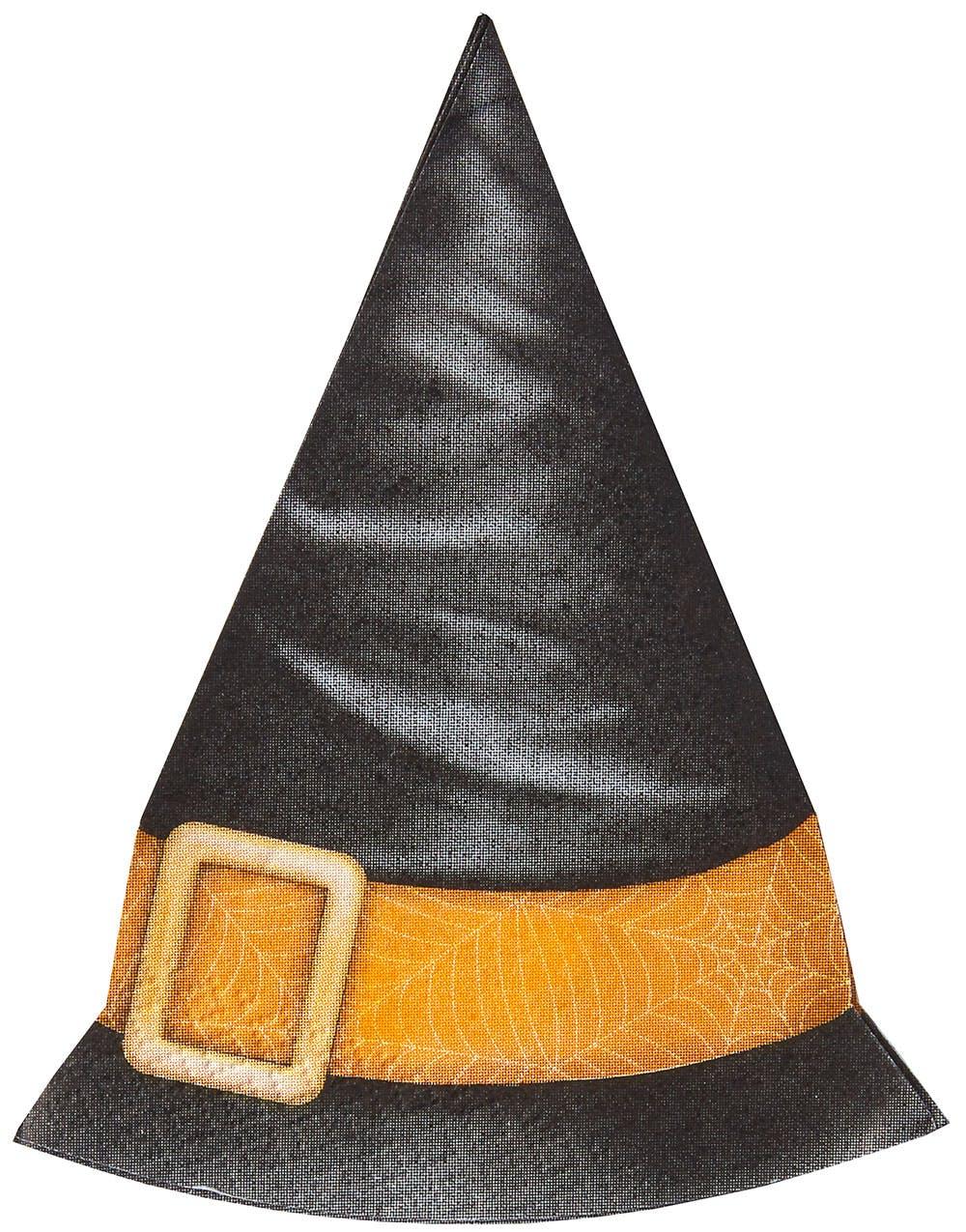4e2e387c 12 stk Heksehatter Servietter - Spooky Halloween 12 stk Heksehatter  Servietter - Spooky Halloween