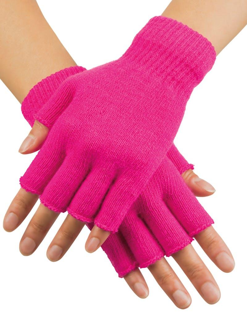 80 s Neonrosa Fingerlösa Handskar ... a5f2e92730b25