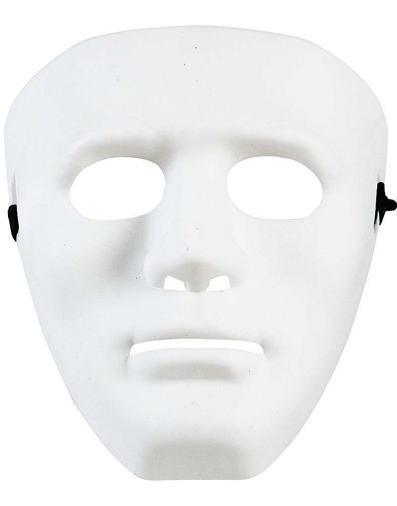 Vit Anonym Mask i Hårdplast 06302bf4e7cd3