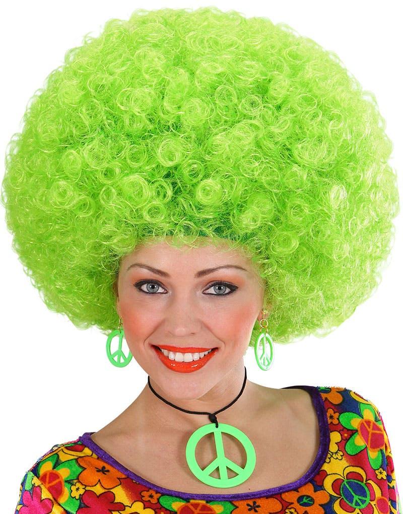 Stor Neon Grön Afroperuk 092e30a90459e