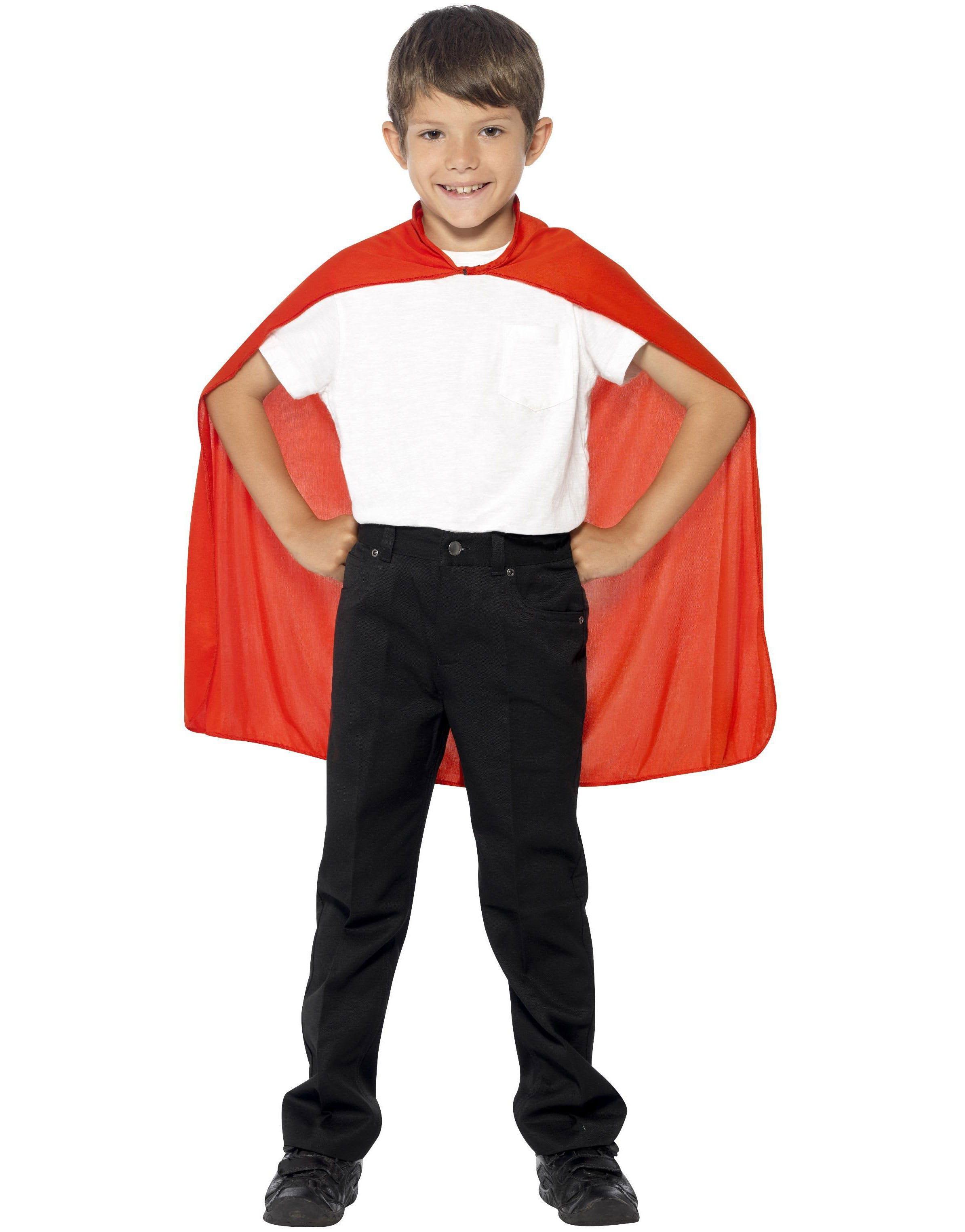 Röd Superhjälte Mantel för Barn - Andra Superhjältar   Skurkar ... 14d9e9016f276