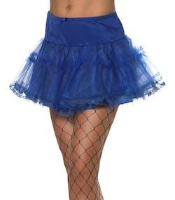 Blå Underkjol med Spetskanter 72f5508e6b545