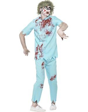 Zombie-Tandläkarkostym med Munskydd och Latex Tänder dd6e6f5b67068