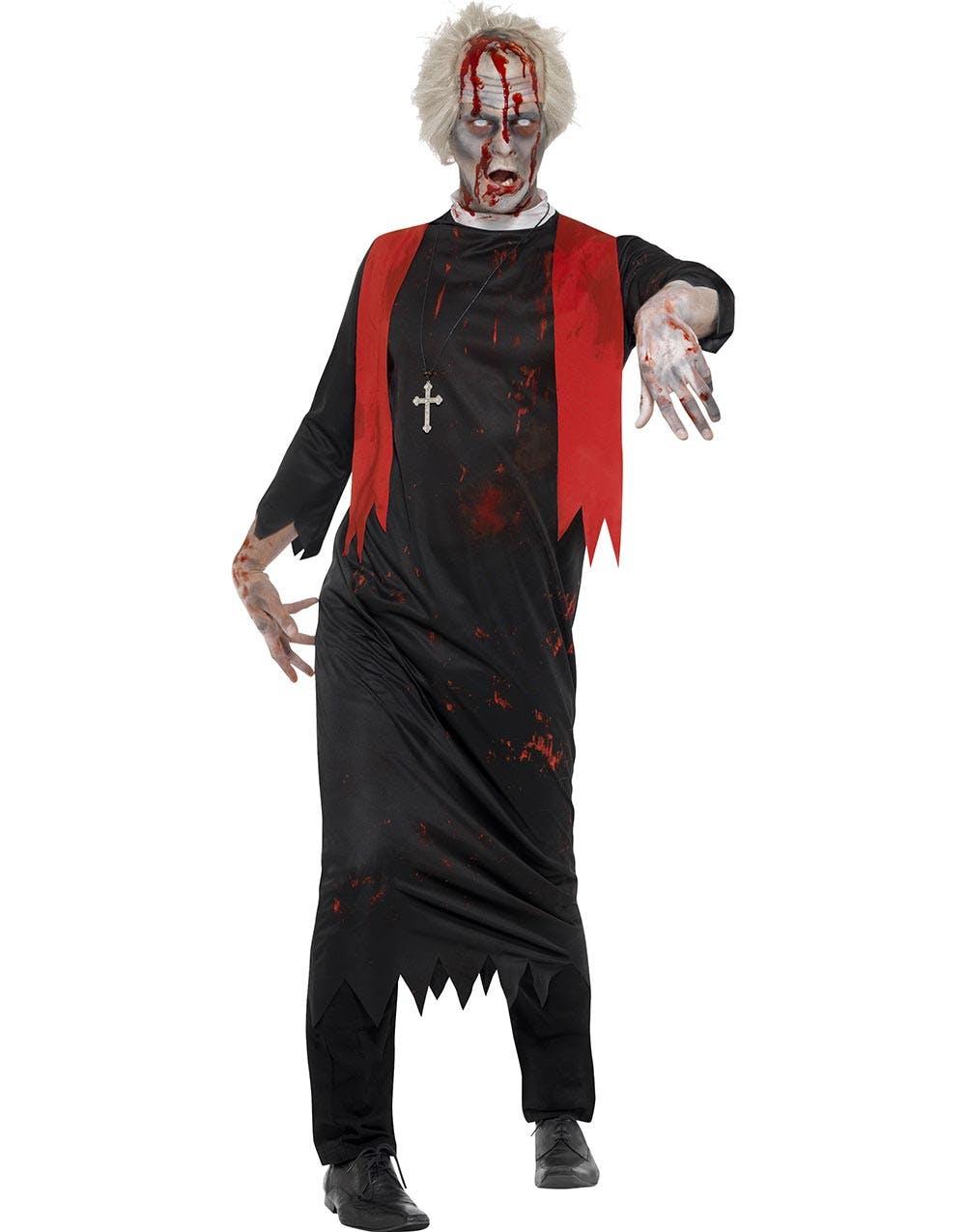 Blodig Zombie Präst Herrkostym f80d06ebcf22b