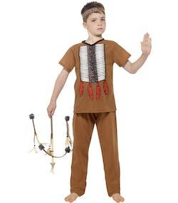 697beff7 Nativ Indianergutt Barnekostyme