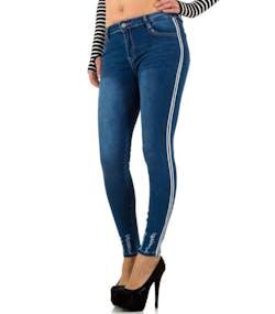 Blå Jeans med Svarta och Vita Ränder 12590c0b2841b