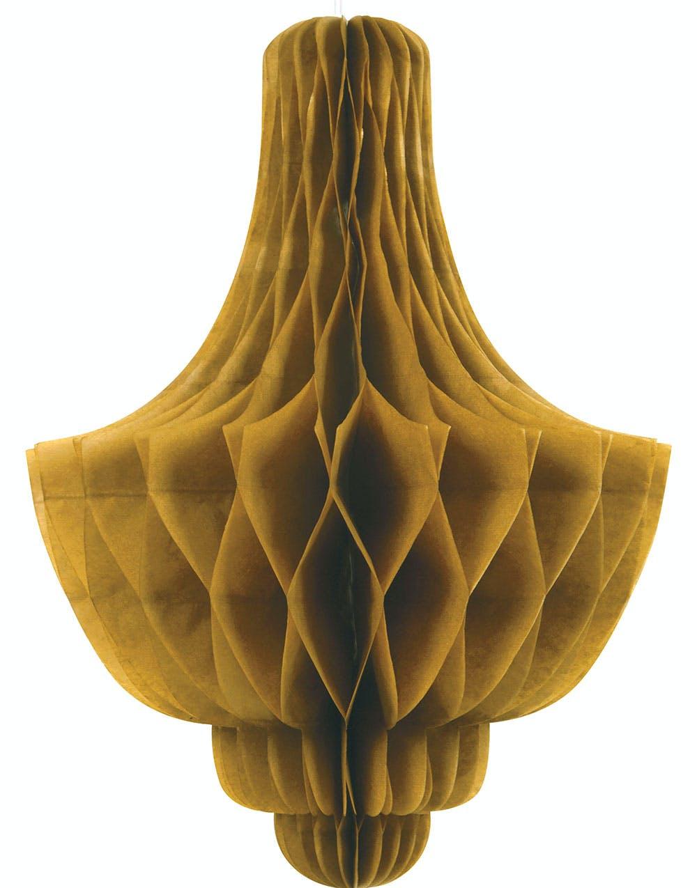 1 st Guldfärgad Lampkroneformad Honeycomb 35 cm 2511dc27e6012