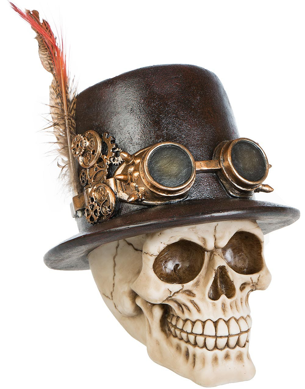 kockums varv anställda Steampunk Top Hat Skull Figur 17 x 18 cm 609c1d7bc628f