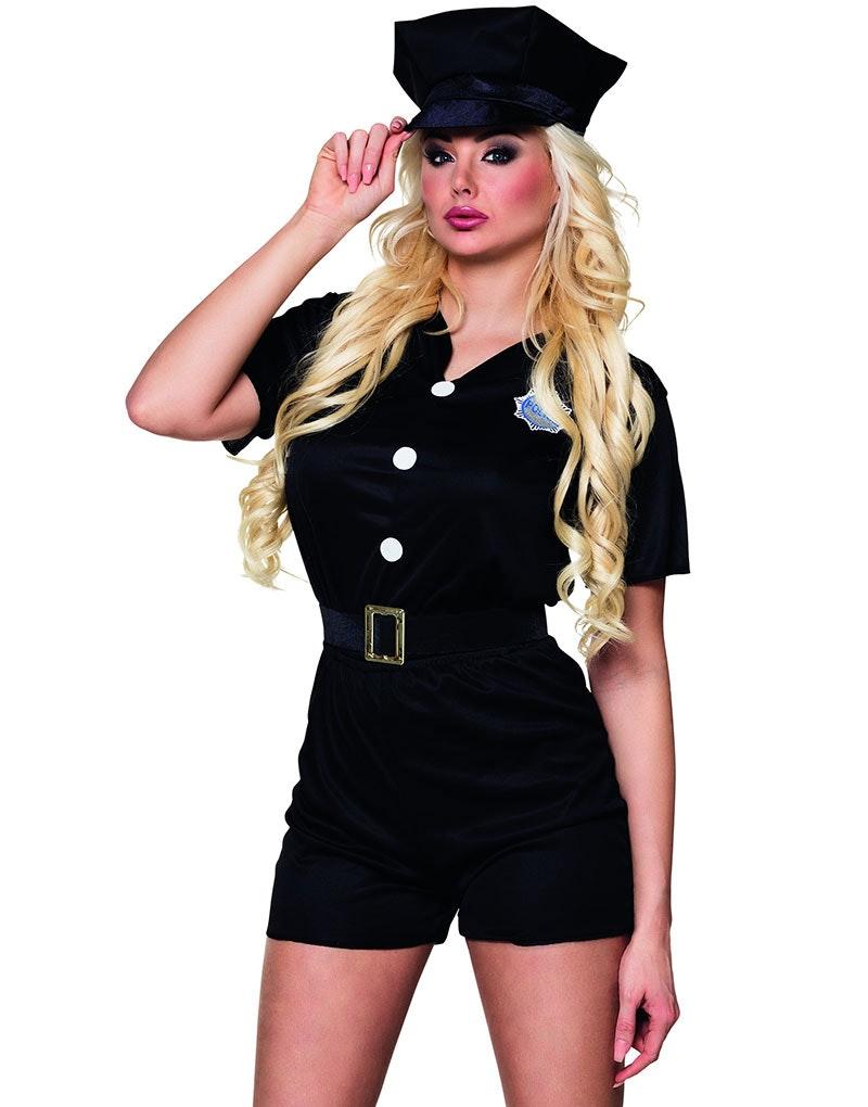 hårete damer politi kostyme dame