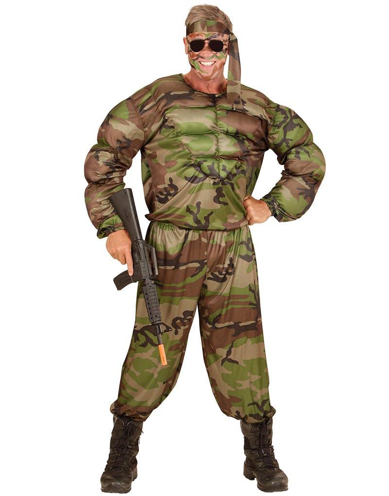 Muskulös Soldat Maskeraddräkt (Herr) - Militär - Maskeraddräkter ... 2b08e4c3e21c8