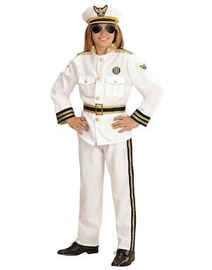 06d32a6e Marine Kaptein Barnekostyme med Hatt - Sailor / Marine / Navy ...