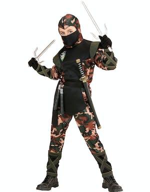 Ninja-Soldat Maskeraddräkt (Barn) - Militär - Maskeraddräkter Efter ... 23ce3f821d76a