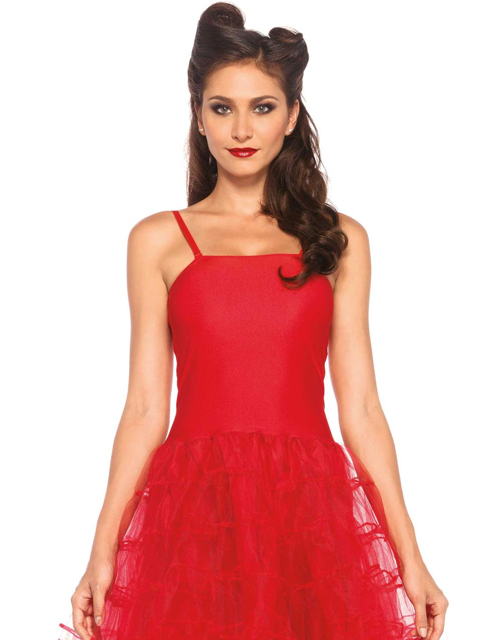 Rockabilly klänning Svart med röda detaljer