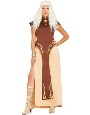 Game of Thrones Inspirerad Khaleesi Daenerys Targaryen Kostym 369b6d84d7909