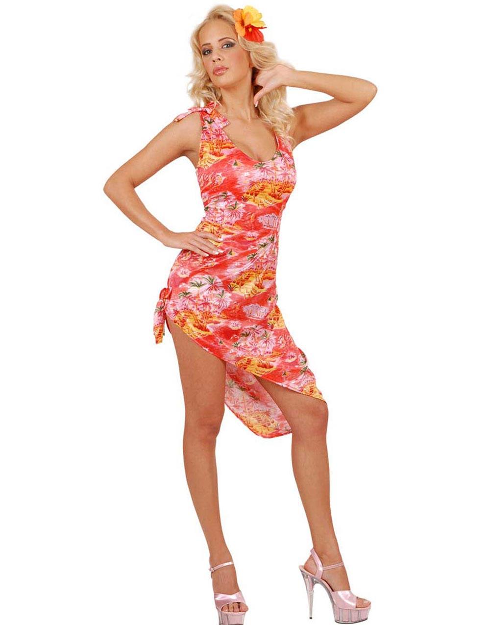 Hawaii Skönheten Kostym Klänning