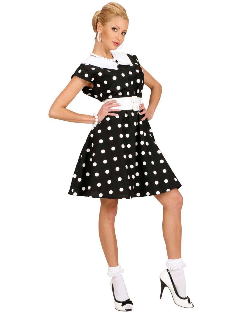 Talls Med Prikker Kjole Kostyme 50 Svart pdqWp6