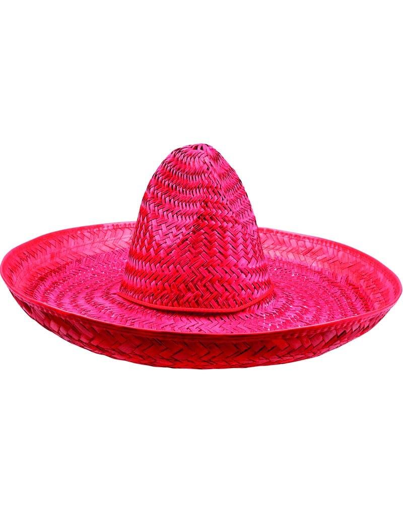 Sombrero Stråhatt i Rød 47 cm
