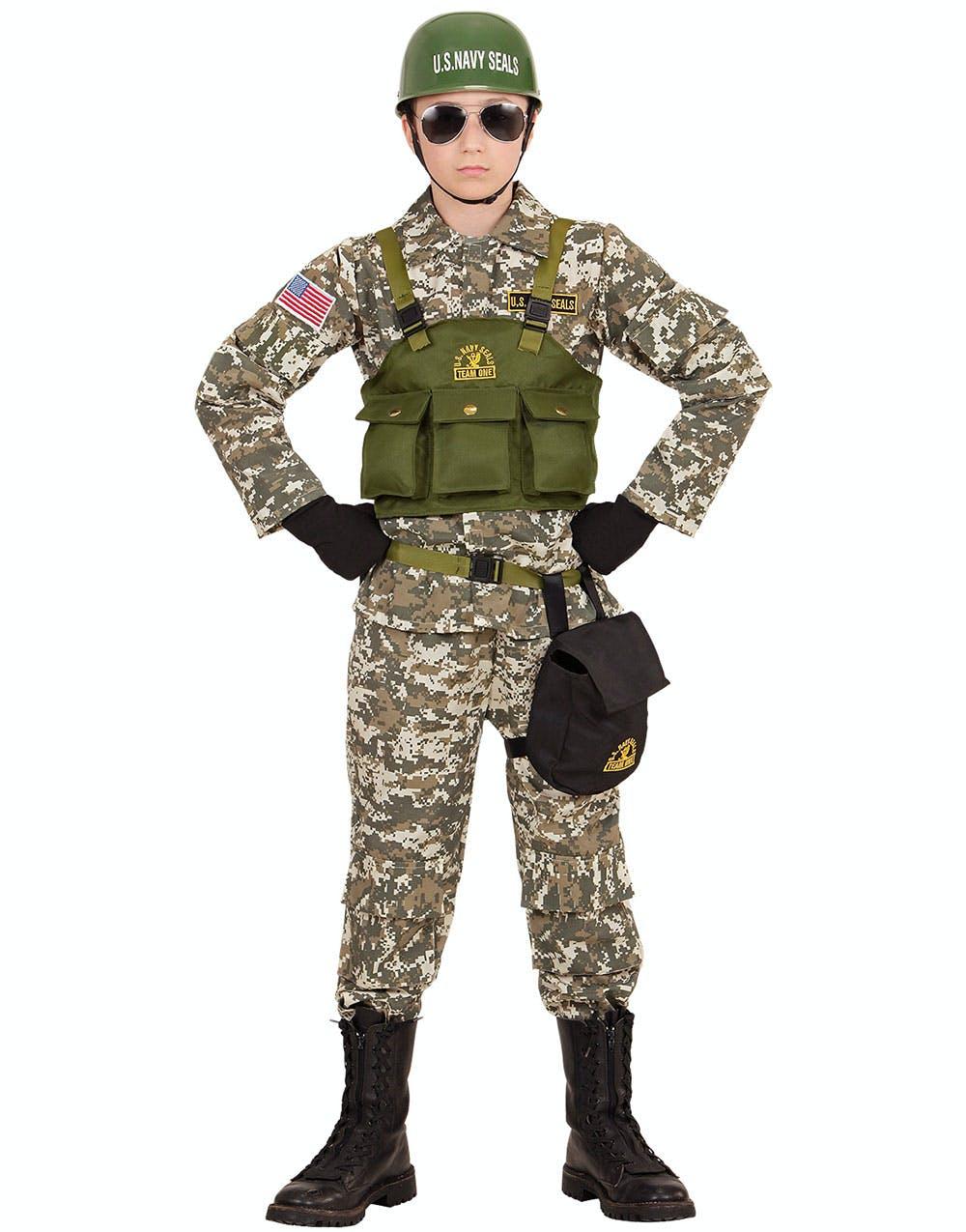 US Navy Seals - Maskeraddräkt (Barn) med Hjälm - Militär ... 71dad7e17bf20