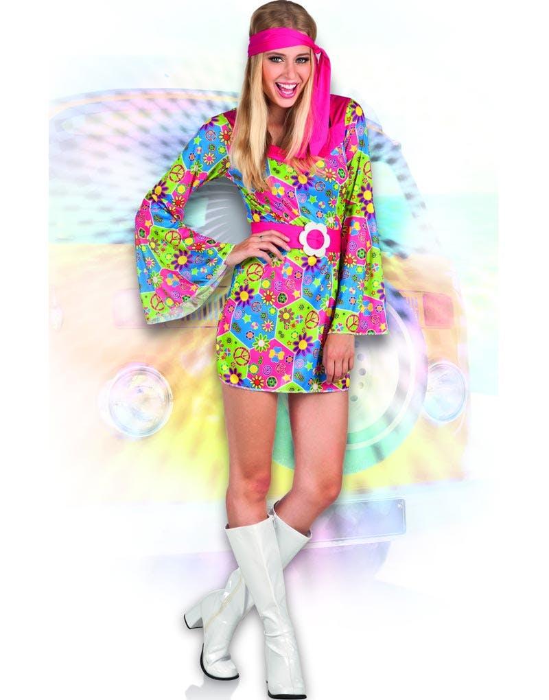 95e44eff9e94 Flower Power Lady - Hippiekostyme Til Dame
