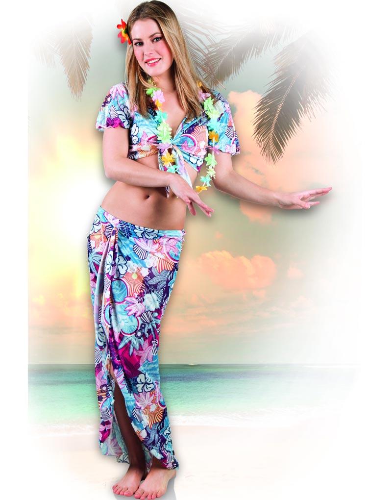 Hawaii Skönheten Kostym till Dam