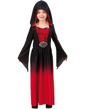 b95d9fa08d96 Svart och Röd Kostymklänning till Barn med Hätta