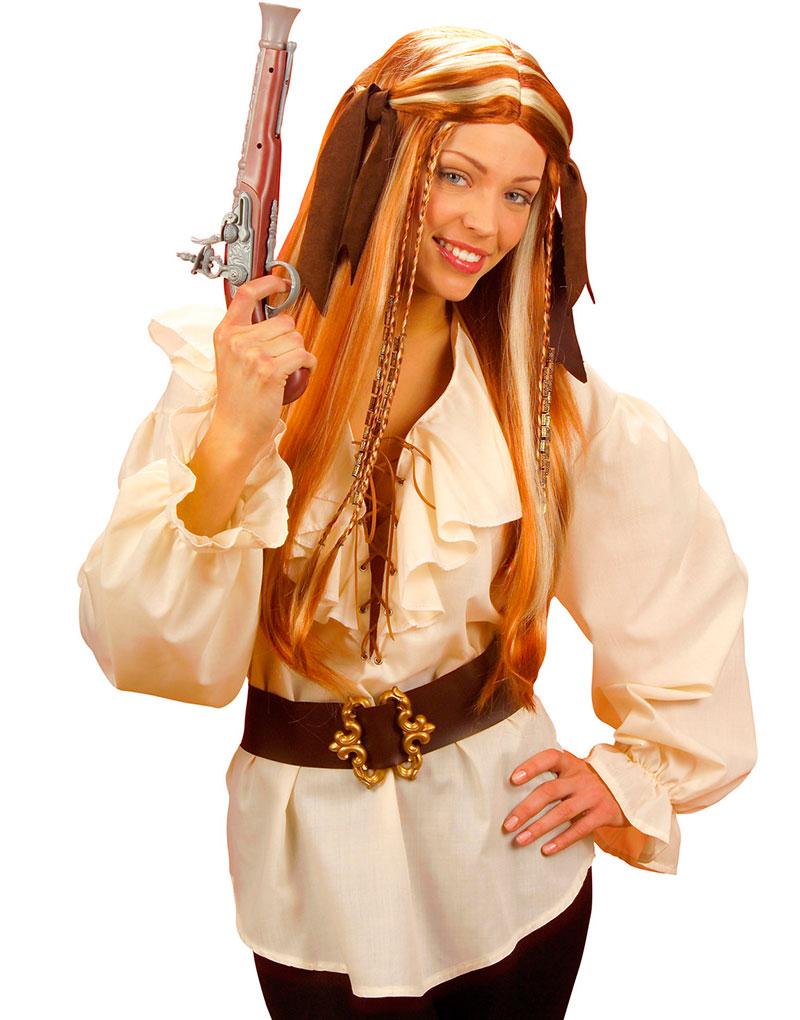 Beige Pirat Middelalder Skjorte til Dame Se Alle Våre