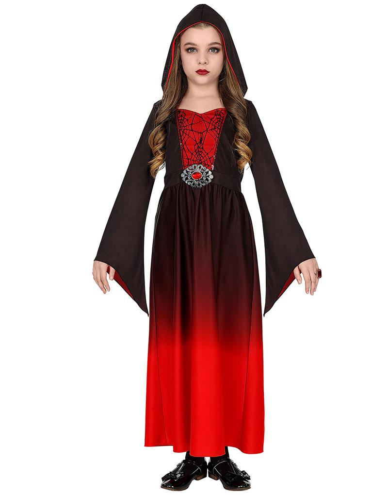 Svart og Rødt Gotisk Kostyme til Barn