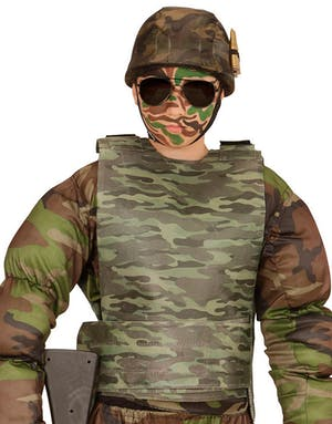 Kamouflage Maskeradväst (Barn) - Militär - Maskeraddräkter Efter ... 2d5810c007ae1