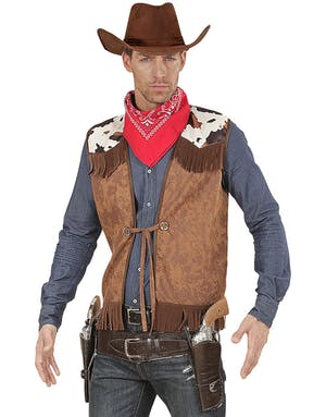Brun Cowboy Maskeradväst med Fransar - Strl M L - Se alla våra ... 3bacaa7e18e15