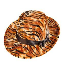 Tigermönstrad Fedorahatt med Band 2c70996134cf1