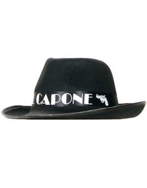 buy popular d384c 020f3 Al Capone - Svart Fedorahatt