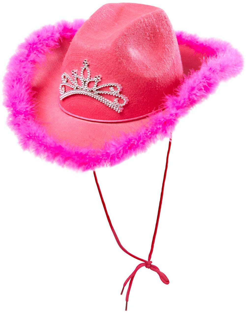 Rosa Cowboy Hatt m Tiara - Huvudbonad df2d05422dbc6