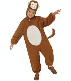 6674382e74f7 Happy Monkey Apekostyme til Barn - Plysjdrakt med Hette