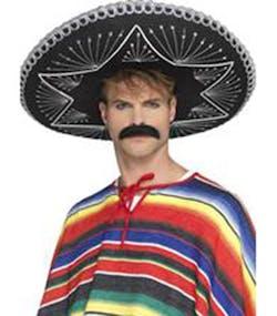 2bc959031 Delux Svart Day of the Dead   Meksikaner Sombrero 56 cm