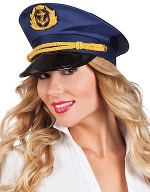 ea5d78fc Blå Kapteinhatt - Sailor / Marine / Navy - Kostymer etter Tema ...