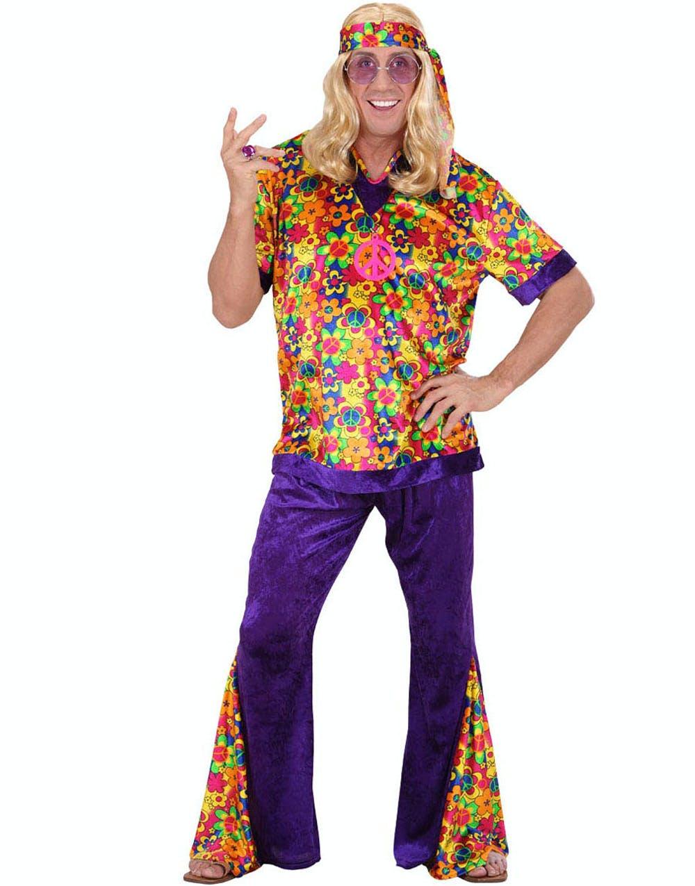 Hippie dude kostyme og andre retro og hippie - Tenue hippie homme ...