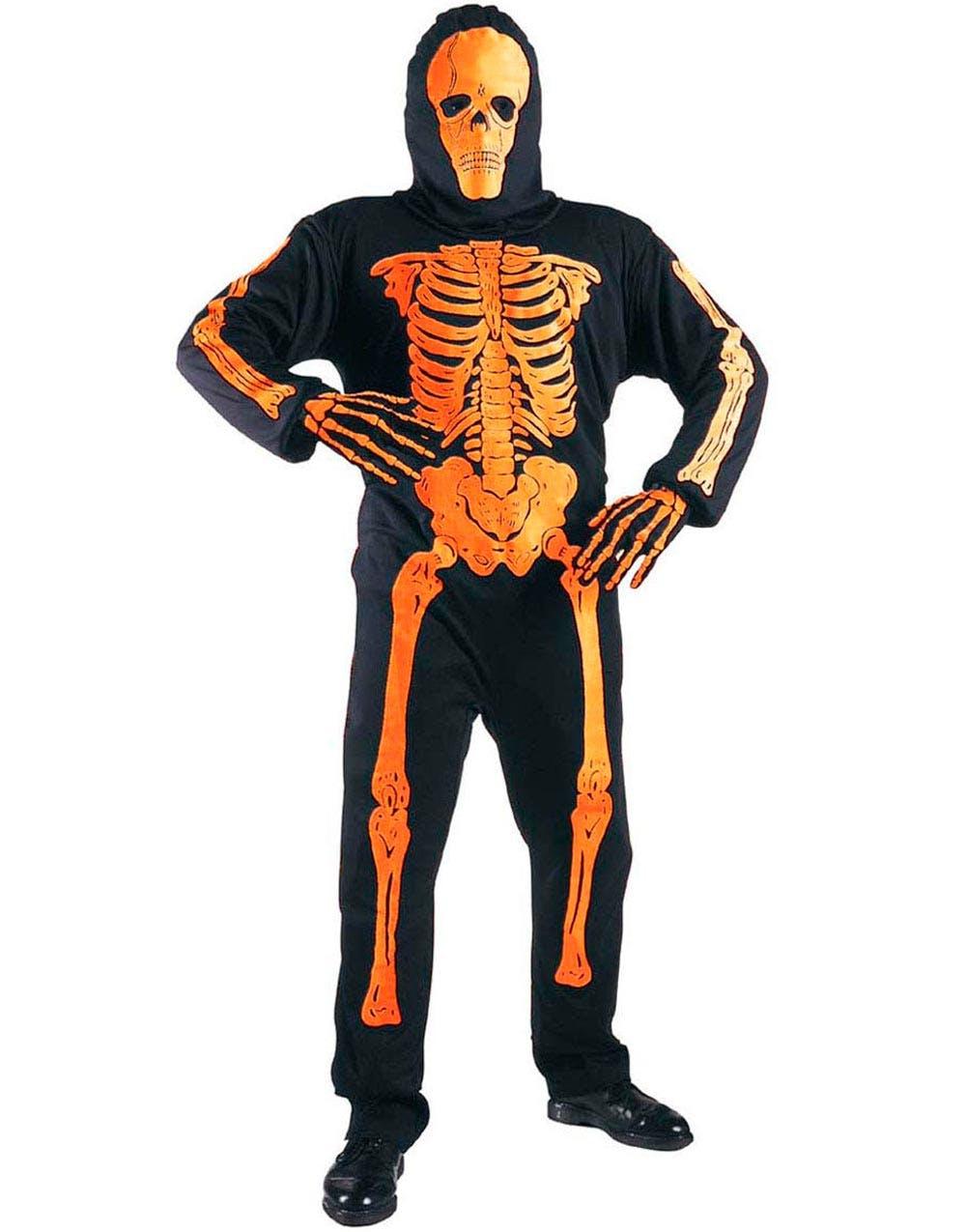 Neonfarget Skjelett Kostyme - Orange 7240618639e96