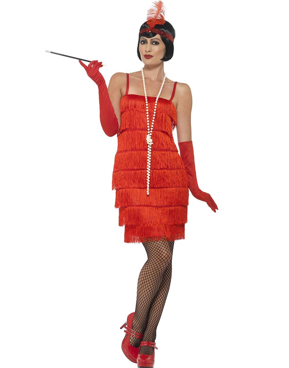 Daisy The Gatsby Flapper Damekostyme Rød