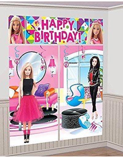 barbie födelsedag Barbie Födelsedag Scene Setter 165 cm x 190 cm barbie födelsedag