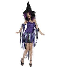 Purple Fantasy Witch - Komplett dräkt - Storlek M 0746b793b99f2