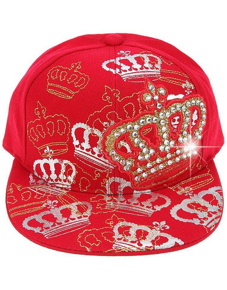 Crown Keps med Platt Skärm - Röd og andre Flatbrem 1500104ff4654