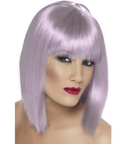 0f2da10388e3 Glam Bob-Cut Peruk - Lila
