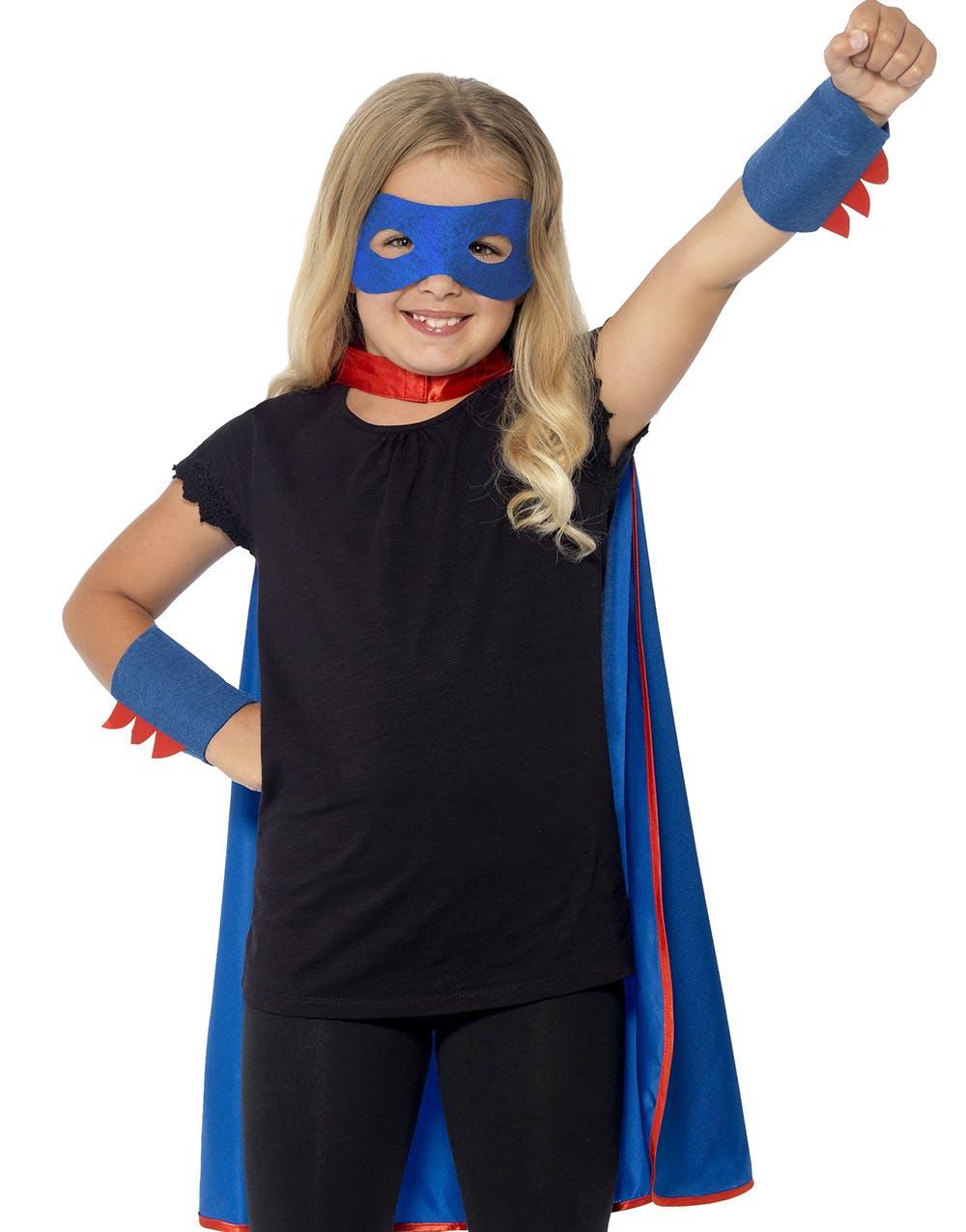 Blått Superhjälte-Set till Barn - Andra Superhjältar   Skurkar ... 077cbd0056e19