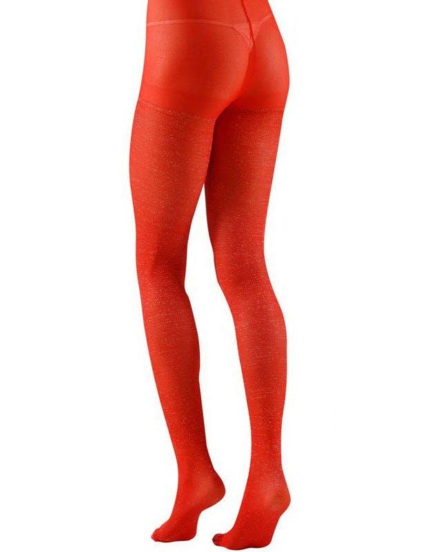 11d1d17d Strømpebukse med Glitter - Rød