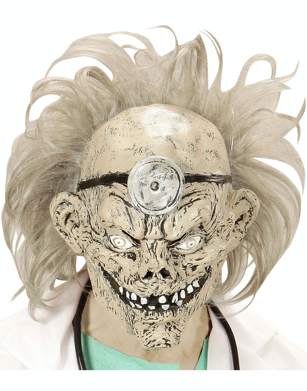 804cade67 Zombie Doktormaske i Latex med Hår