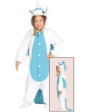 Kigurumi Blå Unicorn Barndräkt b9968b0fdb0de