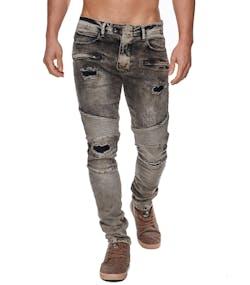 Beige och Svarta Jeans med Slitna bitar 5cbfb426b1cf7